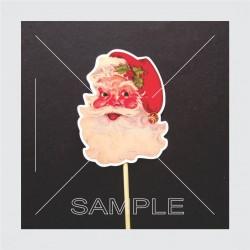 Printed toper Santa Claus...
