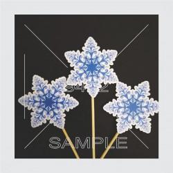 Printed toper Snowflakes...