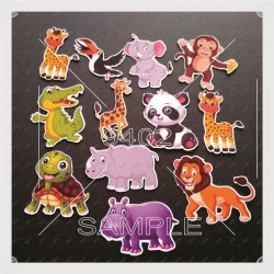 Printed Cute Animals-themed...