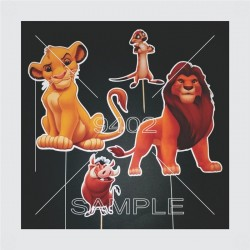 Printed topers lion king...