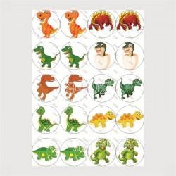 Round Thumbnails Dinosaurs 021