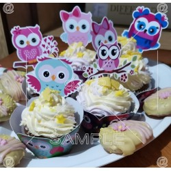 Set of 12 different cupcake...