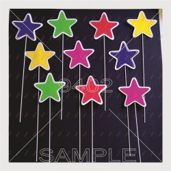 Pack of 10 Stars 6cm...