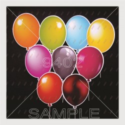 Balloons Multicolored N102